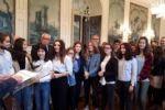Concours National de la Résistance et de la Déportation 2018. Réception des participants du département.