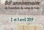 CAMP DE GURS. Journées historiques et mémorielles des 2 et 3 avril 2019.