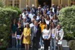 Concours National de la Résistance et de la Déportation 2019. Réception des participants du département.